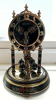 Vintage Black Painted Hermle Anniversary Dome Clock - Spares Or Repair