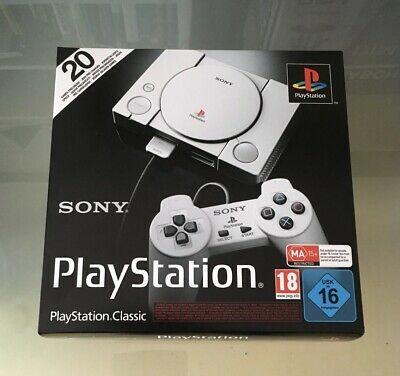 Sony PlayStation Classic - PS1 Mini - Retro Konsole - inkl. 20 Spiele + 2 Contro