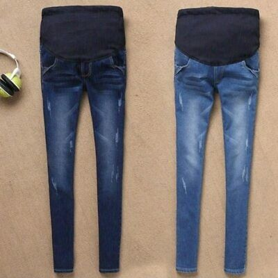 Maternity Jeans For Pregnant Women Pregnancy Winter Warm Jeans Pants Maternity