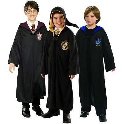 Harry Potter Costume Kids Hogwarts Robes Halloween Fancy Dress