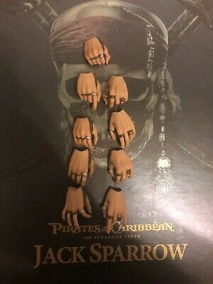 Hot Toys DX06 Pirates of the Caribbean 4 CAPTAIN JACK SPARROW 1//6 HANDS #1