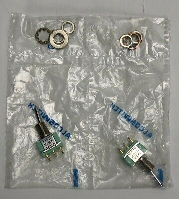 Lot of 2 ALCO MTA106F Toggle Switch **FREE SHIPPING**