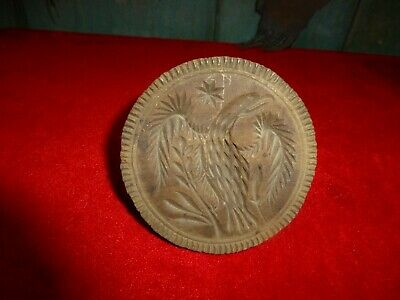 """RARE Antique 4 1/4""""  hand carved """" EAGLE """" Butter Mold.- Early Farm Butter Press"""