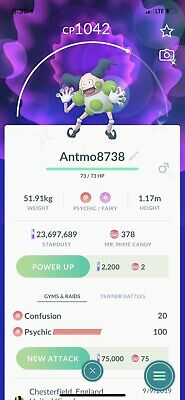 Pokemon Go Shiny ✨ Mr Mime ✨ Read Description