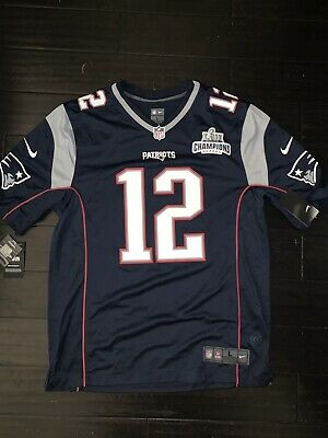watch f4548 23f86 AUTHENTIC NIKE TOM Brady Patriots Jersey w/ Official SB LIII Champions Patch