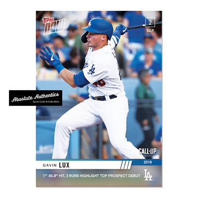 2019 Topps NOW 787 Gavin Lux CALL-UP RC Los Angeles Dodgers