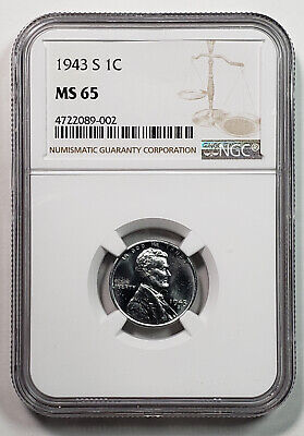 1943-S Lincoln Cent NGC MS65