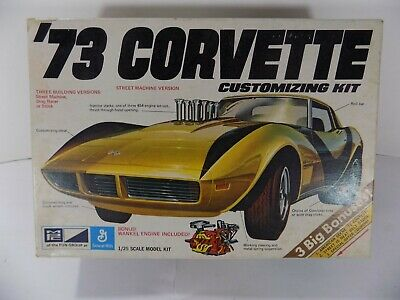 MPC VINTAGE 1972 '73 1973 CORVETTE 1/25 SCALE 1-7305-225 BUILT Decals w/ Box kit