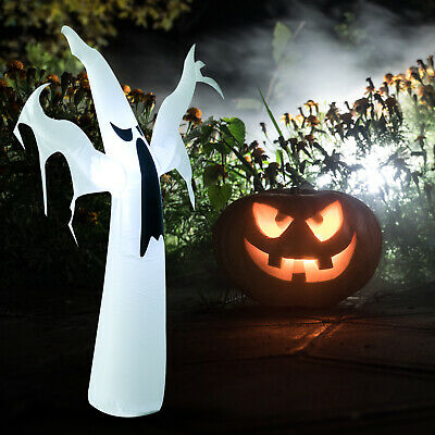 HOMCOM 1.8M Inflatable  Halloween Party Decoration Ghost Light Up LED w/ Fan