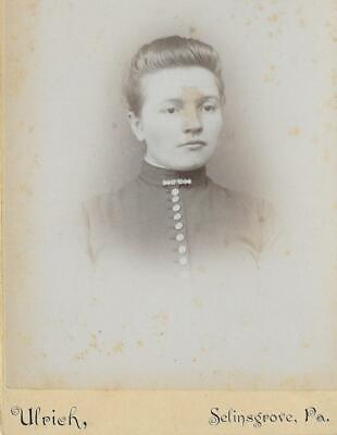 Cabinet Card Photo Cab90 Serious Looking Woman - Ulrich - Selinsgrove, Pa