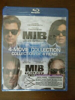Men In Black International - MIB Trilogy - 4 Movie Collection Set (Blu ray)