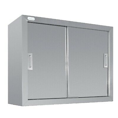 Wall Cupboard Stainless Steel 900x300x600mm Vogue Two Door Storage Kitchen