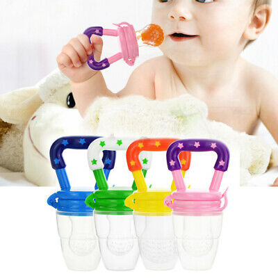 Baby Dummy Feeding Nibbles Weaning Nutrition Pacifier Fresh Fruit Food Feede TP