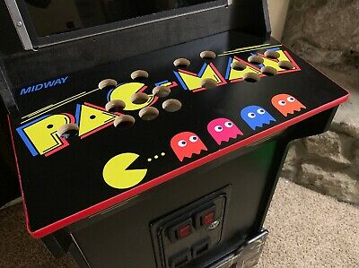 Arcade1up Custom Pac-Man Control Panel Red T Mold Installed