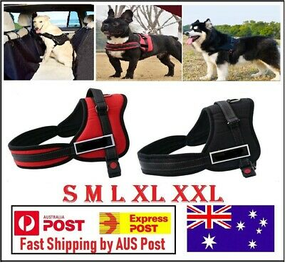 Dog Harness walk No Pull Vest tactical Heavy Duty Handle collar Service Patch AU