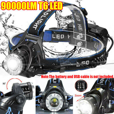 90000LM Waterproof CREE T6 LED Headlamp Headlight Torch Flashlight Work Light