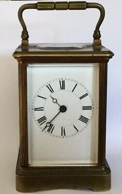 Antique French Striking Carriage Clock, Lever Platf8 Day By Henri Jacot Paris