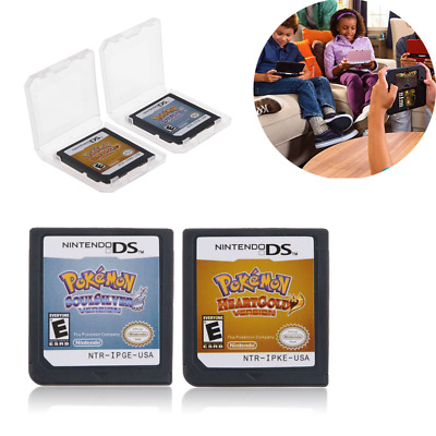Pokemon Heart Gold/Soul Silver Game Card + Box For NDSL 3DS NDSI NDS US Version