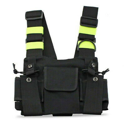 Portable Radio Chest Harness Chest Front Pack Pouch Holsters Vest Rig 18*21cm
