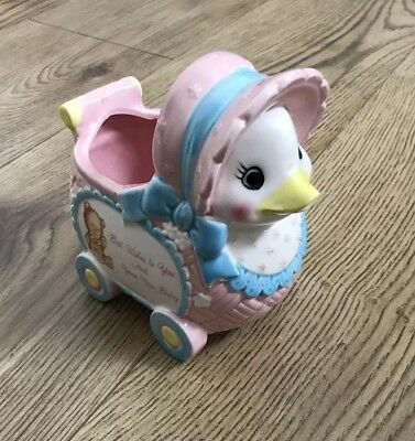 Duck Pink Baby Girl Ornament Japan Kitsch Retro Gift Vintage