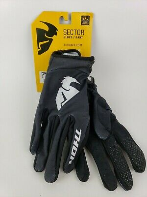 Thor Sector Motorcycle Glove Mens 2XL Black