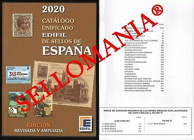 Catalogo Edifil 2020 Sellos De España Spain Stamps Catalogue  Ultima Edicion