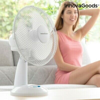 Ventilateur de Table InnovaGoods Ø 30 cm 35W Blanc