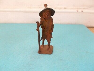 Bronze/Brass figure of an old man. Lost Wax. Mid 20th Century.