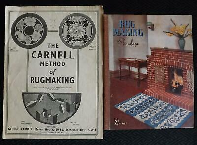 Vintage RUG MAKING by Penelope & The Carnell method of RUG MAKING Bookets
