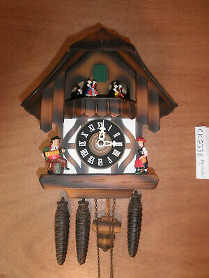 Cuckoo Clock German Black Forest working SEE VIDEO Musical Chalet 1 Day CK2336