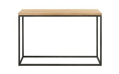Oak & Metal Industrial Console Urban Style Hall Side Table