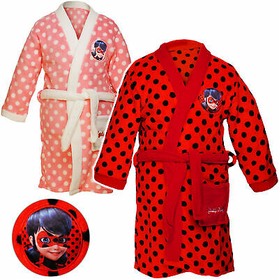 Robe/Dressing Gown - Miraculous - Ladybug and Cat Black - 1 to 7 Jahre