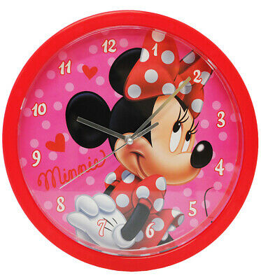 """Wall Clock - """" Disney Minnie Mouse """" - 25 cm Large - Very Quiet Watch - Analogue"""