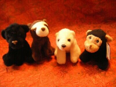 """Chester Zoo Set Of 4  Soft Toys 5""""  Approx   Vgc (B143)"""