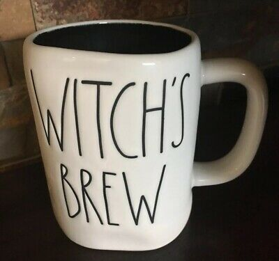 New Rae Dunn Witch's Brew Black Interior Mug LL Large Letter Halloween 2019