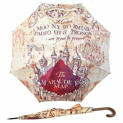 New Harry Potter Marauder's Map Auto Open Umbrella Hogwarts Brolly Official