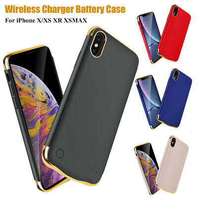 For iPhone X/XS XR XSMAX Slim Battery Case Backup Smart Charger Cover Power Bank