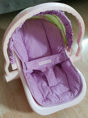 American Girl Bitty Baby Doll Pink & Purple Car Seat Carrier