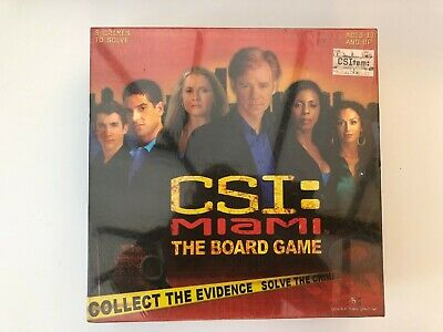 CSI Miami The Board Game 2005 TV Detectives Series Investigation Complete