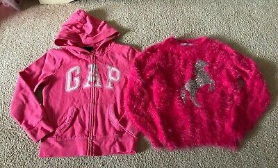 Size: Age 8-9 Years - Girls Clothes Bundle (Jumper, Hoodie) - Gap, M&S - VGC