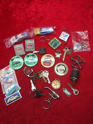 Junk Drawer Mixed Lot Of Vintage Car Street Rod Chevy Chrysler Key Chains & More