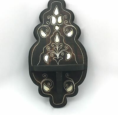 Ethnic Indian Home Decorative Wooden Hand-carved Wall Shelf / Wall Hanging