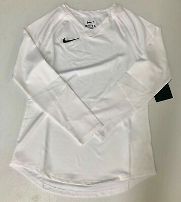 Nike Long Sleeve Training Volleyball Shirt Girl's Medium Large XL White 836322