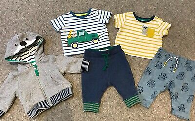 Baby Boys Mini Boden Outfit Set Hoodie Jacket T Shirt Top Trousers 0-3 Months