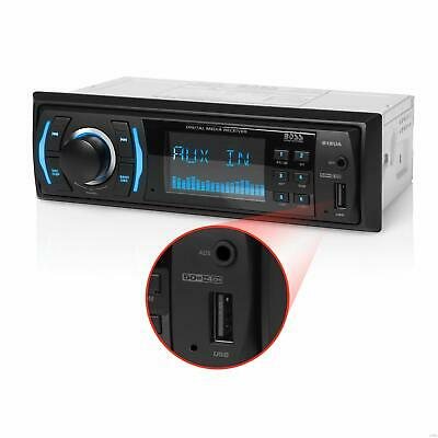 Boss Single Din USB AUX Radio Car Stereo Receiver Audio Enabled NEW
