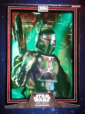 TOPPS STAR WARS CARD TRADER ILLUSTRATED CTI 2019 BOBA FETT RED 10cc