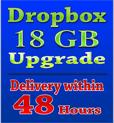 Dropbox Upgrade - 18GB Lifetime Storage - FAST DELIVERY