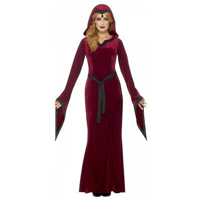 Medieval Vampiress Costume Adult Halloween Fancy Dress