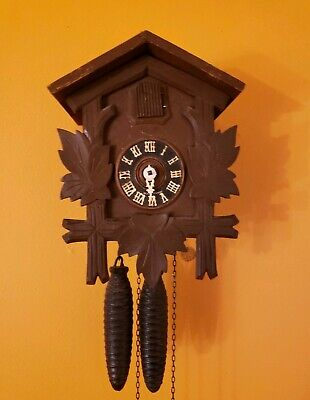 Vintage  Mvmt Hubert Herr German Cuckoo Clock Made Germany. For parts
