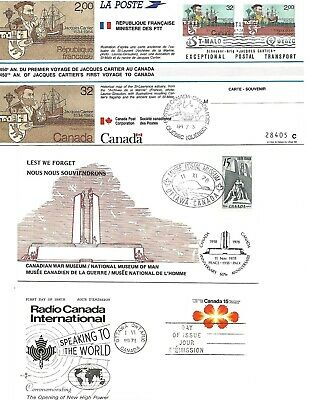 Canada  1971/78/84  First Day Covers  Vf